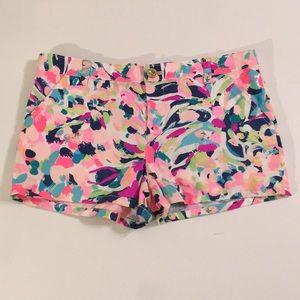 Lilly Pulitzer Girls Multi Print Shorts Sz 14